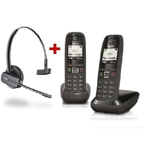 Pack auricular Inalámbrico C565 Dect Gap + teléfono DECT Gigaset AS405 DUO